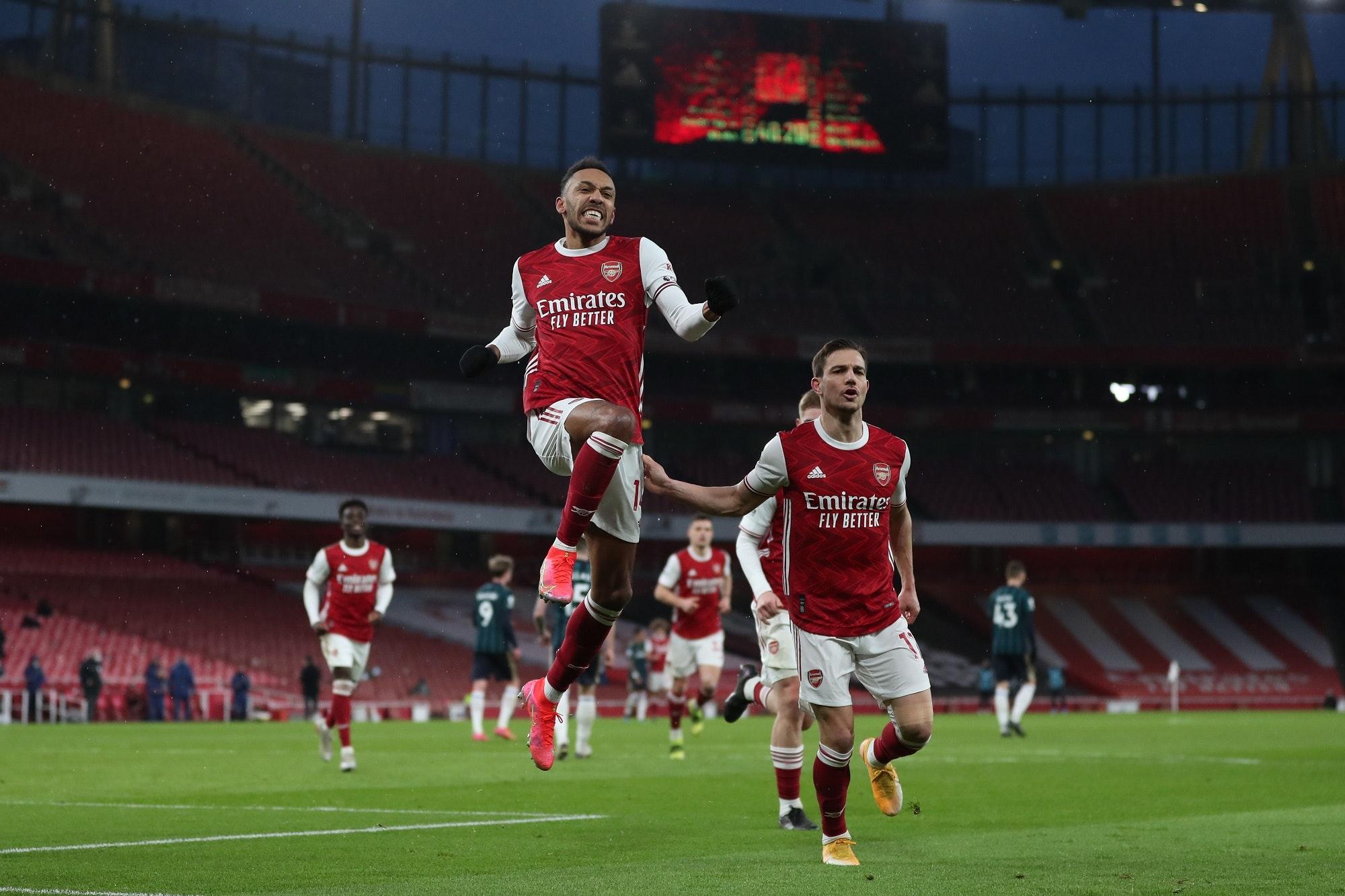 Arsenal v Leeds United - Pierre-Emerick Aubameyang