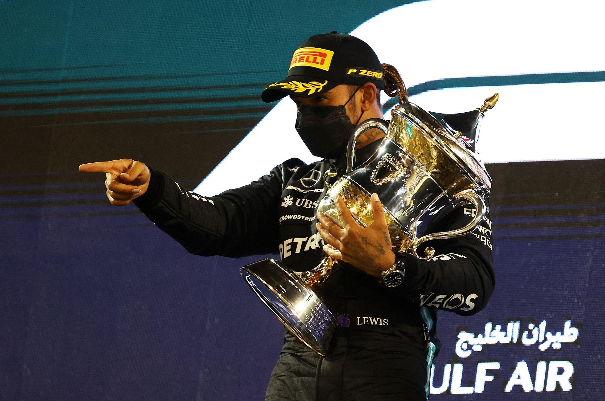 F1 Grand Prix of Bahrain: Lewis Hamilton