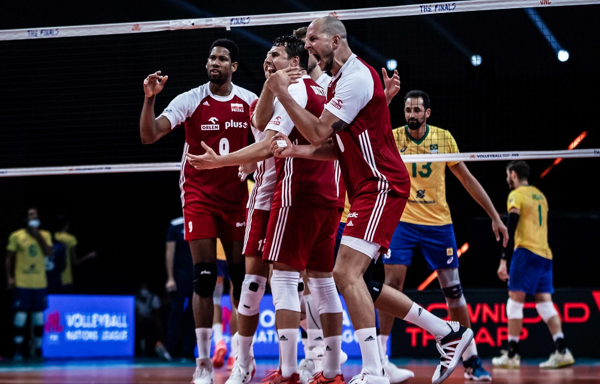 Siatkówka. Liga Narodów. Polska - Brazylia