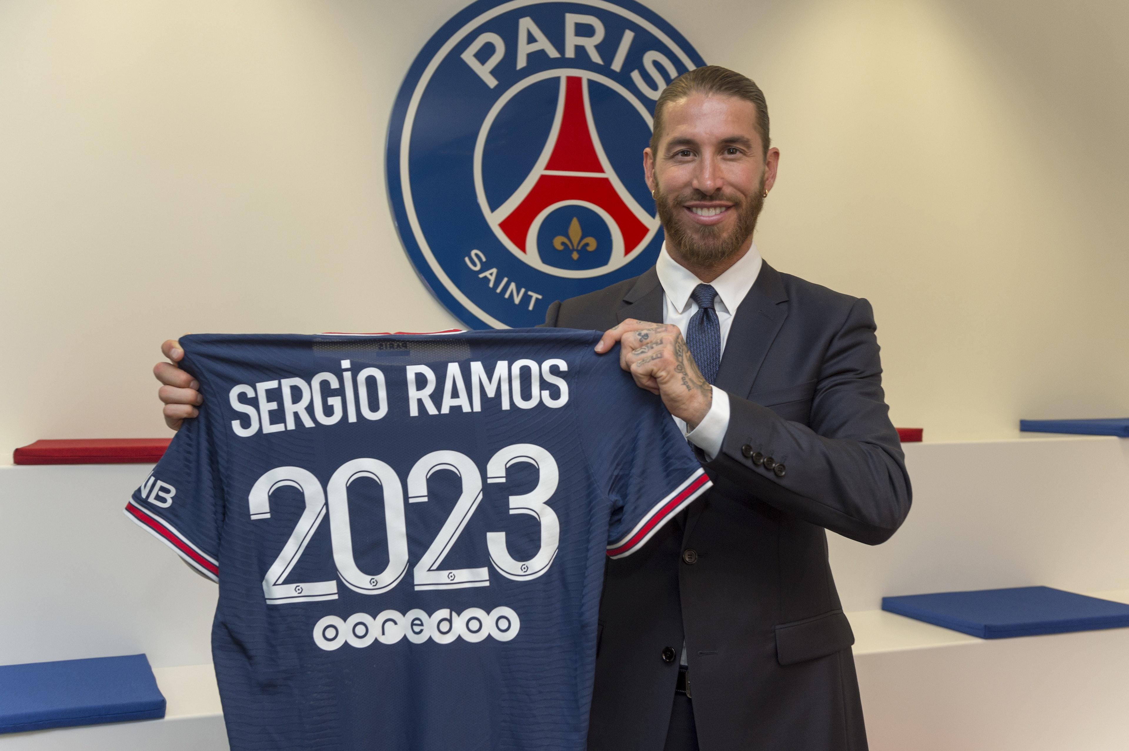 Paris Saint-Germain Unveil New Signing Sergio Ramos