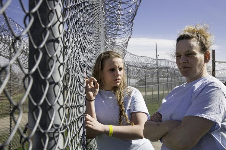 Jacinta and Rosemary at Maine Correctional Center, 2016.