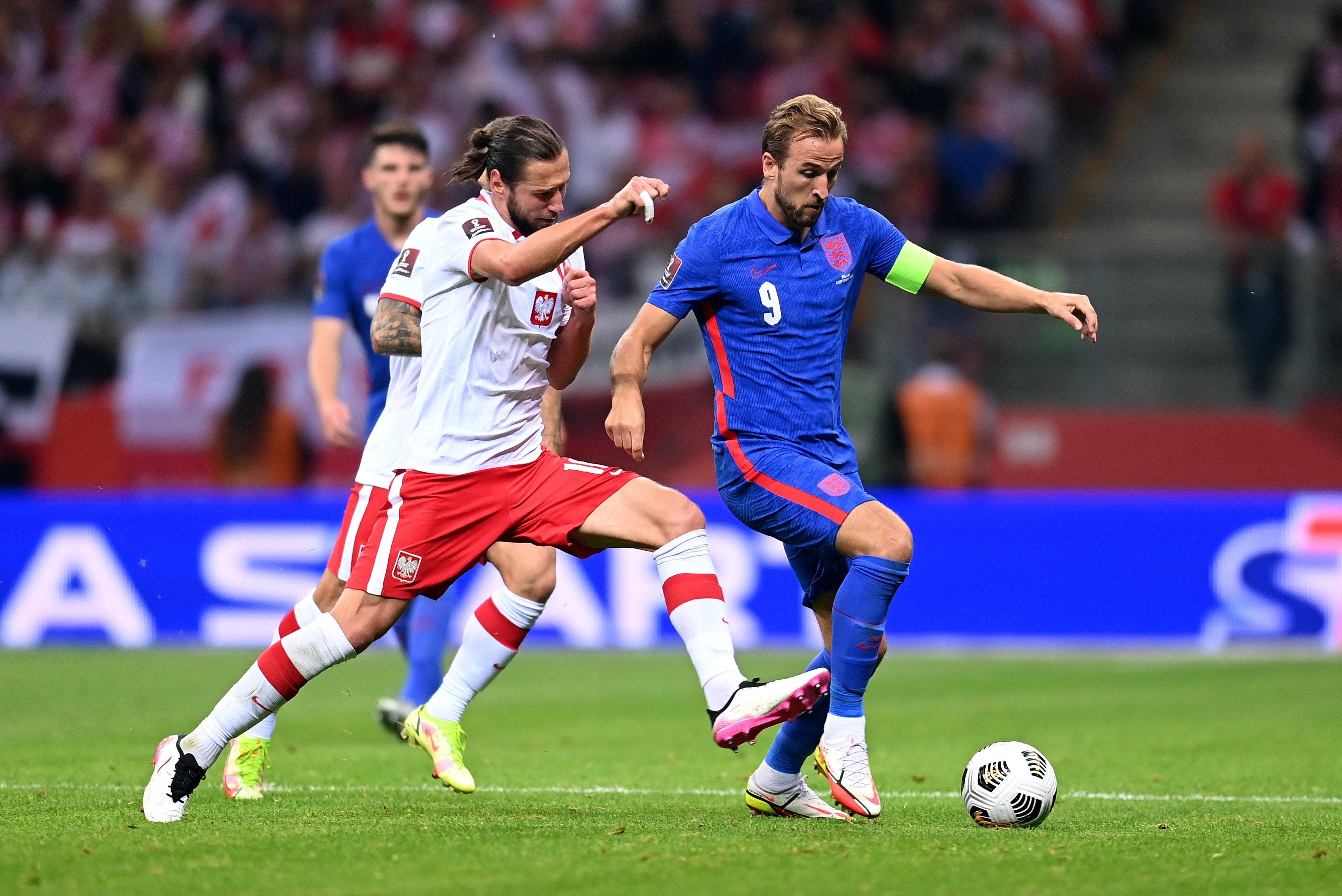 Polska - Anglia. Grzegorz Krychowiak i Harry Kane