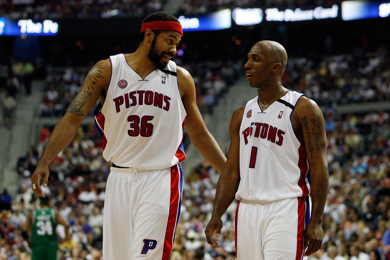 NBA. Detroit Pistons - Rasheed Wallace i Chauncey Billups