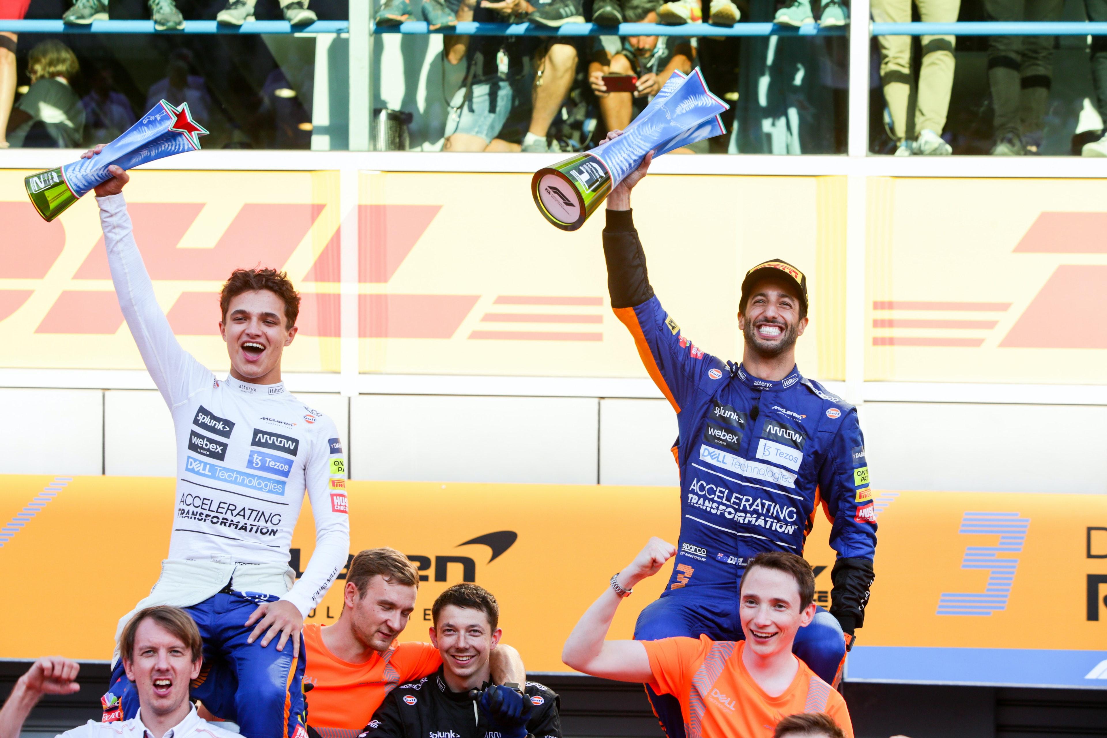 Daniel Ricciardo i Lando Norris - Formuła 1 - GP Włoch - Monza