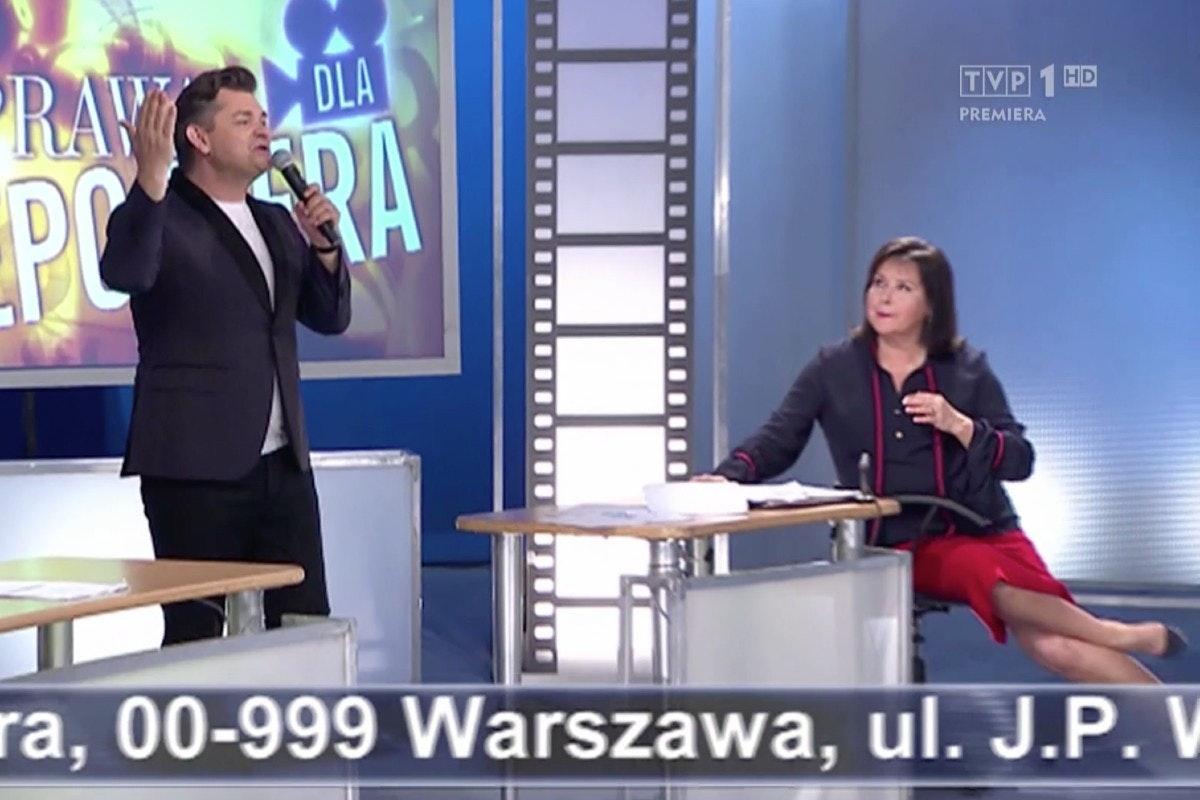"""Zenek Martyniuk i Elżbieta Jaworowicz w """"Sprawie dla reportera"""" / 16.11.2020, TVP"""
